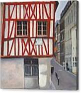Rouen Street Corner Canvas Print