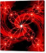 Rouge Et Noir Avec Blanc Canvas Print