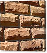 Rough Hewn Sandstone Brick Wall Of A Historic Building Canvas Print