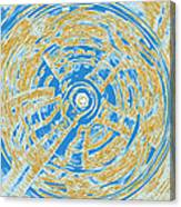Round And Round Blue And Gold Canvas Print