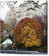 Round Autumn Trees Canvas Print