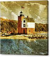 Round Island Lighthouse Canvas Print