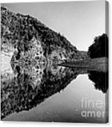 Round The Bend Buffalo River In Black And White Canvas Print