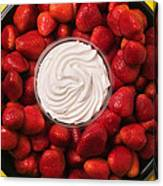 Round Tray Of Strawberries  Canvas Print