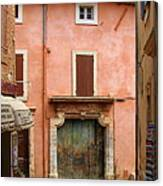 Roussillon Painted Door Canvas Print