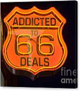 Route 66 Addicted Canvas Print