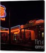 Route 66 At Night Canvas Print