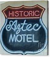 Route 66 Aztec Hotel Mural Canvas Print