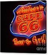 Route 66 Bar And Grill Canvas Print