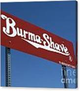 Route 66 Burma Shave Canvas Print