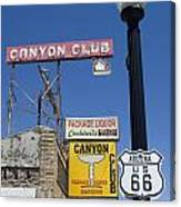 Route 66 Canyon Club Canvas Print