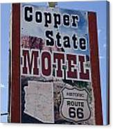 Route 66 Copper State Motel Canvas Print