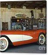 Route 66 Corvette Canvas Print