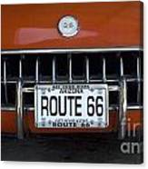Route 66 Corvette Grill Canvas Print
