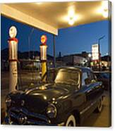 Route 66 Garage Scene Canvas Print