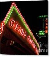 Route 66 Grand Canyon Neon Canvas Print