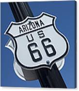 Route 66 Highway Sign Canvas Print