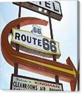 Route 66 Motel Sign 1 Canvas Print