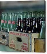 Route 66 Odell Il Gas Station Cases Of Pop Bottles Digital Art Canvas Print