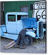 Route 66 Repair Shop Canvas Print
