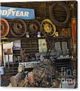 Route 66 Vintage Garage Canvas Print