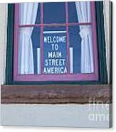 Route 66 Welcome Sign Canvas Print
