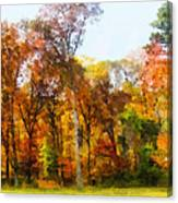 Row Of Autumn Trees Canvas Print