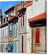 Row Of Houses In Arles Provence Canvas Print