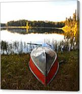 Rowboats At Jade Lake In Northern Saskatchewan Canvas Print