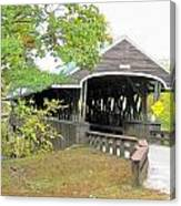 Rowell Covered Bridge Canvas Print
