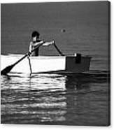 Rowing Canvas Print