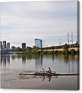 Rowing The Schuylkill Canvas Print
