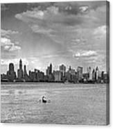 Rowing To Manhattan Canvas Print