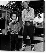 Roy Dusty Rogers Jr., And His Father Canvas Print