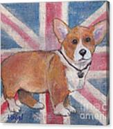 Royal Corgi Canvas Print