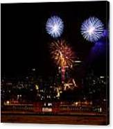 Royal Greenwich Fireworks Canvas Print