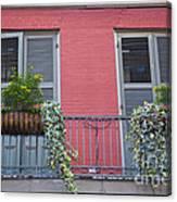 Royal Street Balcony Canvas Print