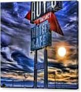 Roy's Motel Cafe Canvas Print