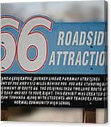 Rt 66 Towanda Il Parkway Signage Canvas Print
