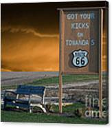 Rt 66 Towanda Signage Canvas Print