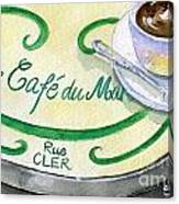 Rue Cler Cafe Canvas Print