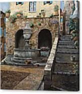 Rue Du Bresc A St Paul De Vence Canvas Print