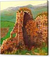 Ruined Castle View Canvas Print