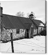 Ruined Cottage In Snow Canvas Print