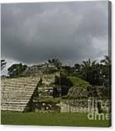 Ruins At Altun Ha Belize Canvas Print