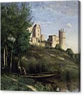 Ruins Of The Chateau De Pierrefonds Canvas Print