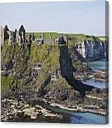 Ruins On Coastal Cliff Canvas Print