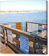 Rules Of The Pier  Canvas Print