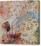 Runes Ocher And Pink I Canvas Print
