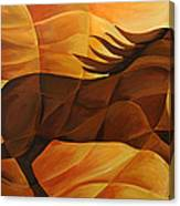 Running Flame Canvas Print